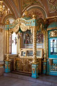 Рака с мощами прп. Давида в Знаменском храме