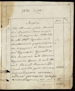 Указ из Московской Духовной Консистории