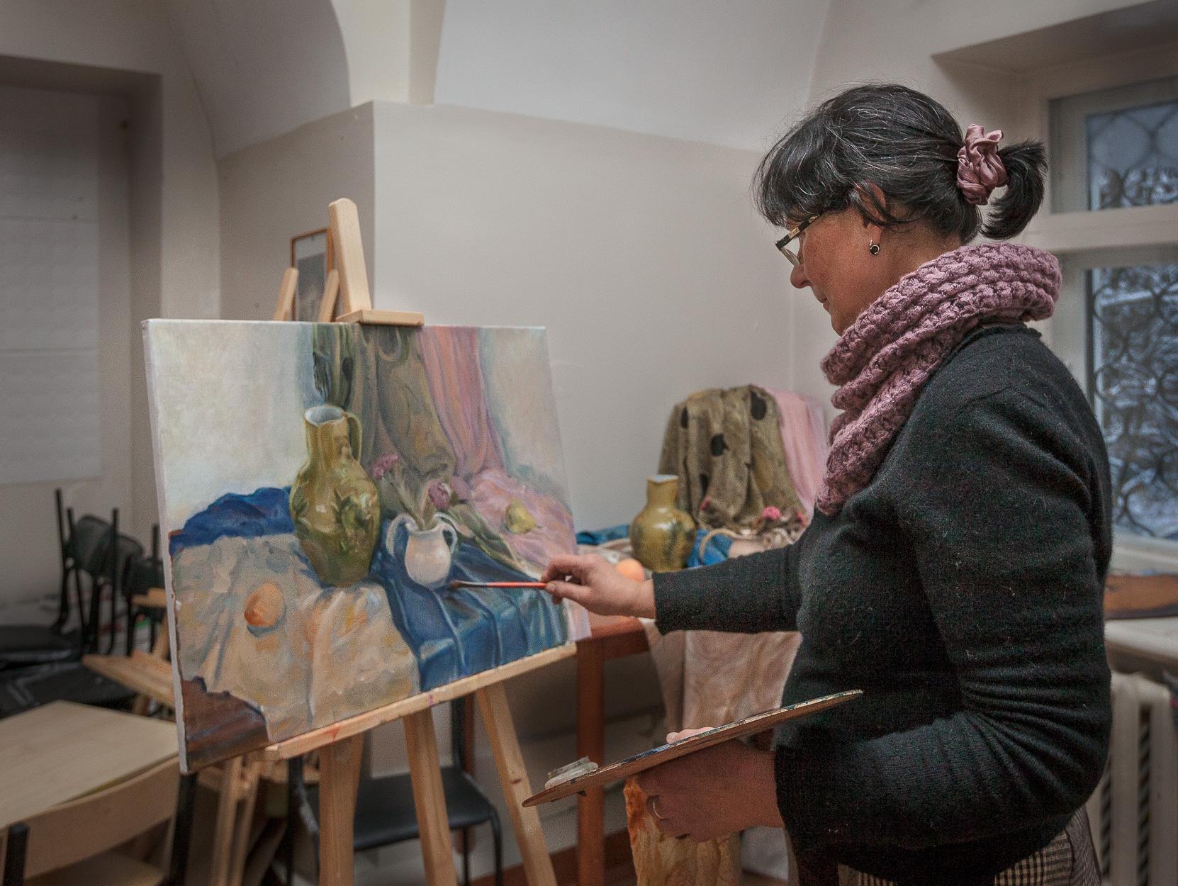 Уроки живописи в Николо-Берлюковской пустыни