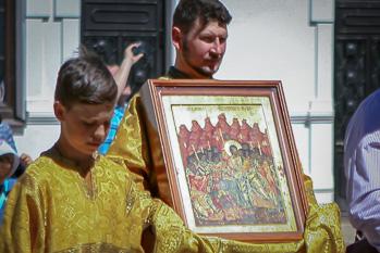 """Крестный ход на праздник иконы """"Лобзание Иисуса Христа Иудою"""""""