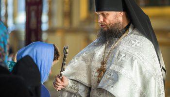 Игумен Евмений после проповеди на престольный праздник Архистратига Михаила и всех Небесных воинств