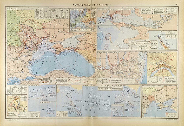 Карта русско-турецкой войны 1787-1791гг