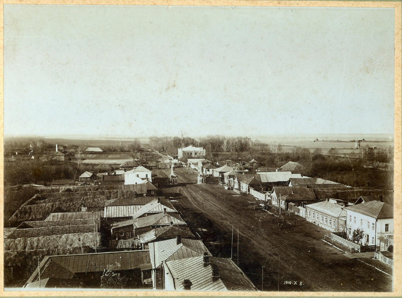 Вид с колокольни Казанской церкви на село Ижевское. Фото нач.XXв.